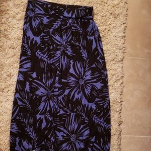 Black& purple long maxi skirt medium Dana Buchman